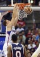 Mar 8, 2014; Los Angeles, CA, USA; Los Angeles Clippers forward Blake Griffin (32) dunks the ball against the Atlanta Hawks during the second quarter at Staples Center. Mandatory Credit: Kelvin Kuo-USA TODAY Sports