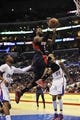 Mar 8, 2014; Los Angeles, CA, USA; Atlanta Hawks forward DeMarre Carroll (5) goes up for a shot against the Los Angeles Clippers during the first quarter at Staples Center. Mandatory Credit: Kelvin Kuo-USA TODAY Sports