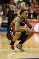 Mar 8, 2014; Los Angeles, CA, USA; Atlanta Hawks guard Jeff Teague (0) reacts during the game against the Los Angeles Clippers during the fourth quarter at Staples Center. The Los Angeles Clippers defeated the Atlanta Hawks 109-108. Mandatory Credit: Kelvin Kuo-USA TODAY Sports