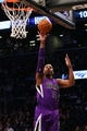 Mar 9, 2014; Brooklyn, NY, USA;  Sacramento Kings power forward Jason Thompson (34) puts up a shot during the first quarter against the Brooklyn Nets at Barclays Center. Mandatory Credit: Anthony Gruppuso-USA TODAY Sports