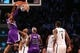 Mar 9, 2014; Brooklyn, NY, USA; Sacramento Kings power forward Jason Thompson (34) dunks during the third quarter against the Brooklyn Nets  at Barclays Center. Brooklyn Nets won 104-89.  Mandatory Credit: Anthony Gruppuso-USA TODAY Sports