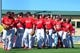 Mar 13, 2014; Jupiter, FL, USA; The St. Louis Cardinals celebrate their victory over the Atlanta Braves at Roger Dean Stadium. The Cardinals defeated the Braves 11-0. Mandatory Credit: Scott Rovak-USA TODAY Sports