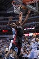 Feb 18, 2014; Dallas, TX, USA; Miami Heat center Chris Bosh (1) during the game against the Dallas Mavericks at the American Airlines Center. The Heat defeated the Mavericks  117-106. Mandatory Credit: Jerome Miron-USA TODAY Sports