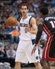 Feb 18, 2014; Dallas, TX, USA; Dallas Mavericks point guard Jose Calderon (8) during the game against the Miami Heat at the American Airlines Center. The Heat defeated the Mavericks  117-106. Mandatory Credit: Jerome Miron-USA TODAY Sports