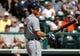 Mar 2, 2014; Lake Buena Vista, FL, USA; Detroit Tigers second baseman Ian Kinsler (3) at bat against the Atlanta Braves at Champion Stadium. Mandatory Credit: Kim Klement-USA TODAY Sports