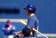 Mar 18, 2014; Phoenix, AZ, USA; Milwaukee Brewers outfielder Ryan Braun against the Texas Rangers at Maryvale Baseball Park. Mandatory Credit: Mark J. Rebilas-USA TODAY Sports