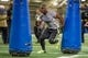 Mar 20, 2014; Notre Dame, IN, USA; Notre Dame Fighting Irish former football player Prince Shembo runs a drill during Notre Dame pro day at the Guglielmino Athletics Complex. Mandatory Credit: Matt Cashore-USA TODAY Sports