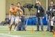 Mar 20, 2014; Notre Dame, IN, USA; Notre Dame Fighting Irish former football player Dan Fox runs a drill during Notre Dame pro day at the Guglielmino Athletics Complex. Mandatory Credit: Matt Cashore-USA TODAY Sports