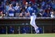 Mar 22, 2014; Surprise, AZ, USA; Kansas City Royals right fielder Justin Maxwell (27) runs the bases after hitting a home run against the Texas Rangers at Surprise Stadium. Mandatory Credit: Joe Camporeale-USA TODAY Sports
