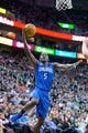 Mar 22, 2014; Salt Lake City, UT, USA; Orlando Magic guard Victor Oladipo (5) goes to the basket during the first half against the Utah Jazz at EnergySolutions Arena. Mandatory Credit: Russ Isabella-USA TODAY Sports