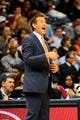 Mar 24, 2014; Atlanta, GA, USA; Phoenix Suns head coach Jeff Hornacek reacts to a call against the Atlanta Hawks during the second half at Philips Arena. The Suns defeated the Hawks 102-95. Mandatory Credit: Dale Zanine-USA TODAY Sports