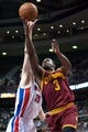 Mar 26, 2014; Auburn Hills, MI, USA; Detroit Pistons forward Kyle Singler (25) guards Cleveland Cavaliers guards Dion Waiters (3) during the forth quarter at The Palace of Auburn Hills. Cleveland won 97-96. Mandatory Credit: Tim Fuller-USA TODAY Sports