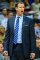 Mar 27, 2014; Atlanta, GA, USA; Portland Trail Blazers head coach Terry Stotts stands on the sidelines in the first quarter against the Atlanta Hawks at Philips Arena. Mandatory Credit: Daniel Shirey-USA TODAY Sports