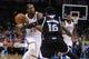 Mar 28, 2014; Oklahoma City, OK, USA; Oklahoma City Thunder forward Kevin Durant (35) drives to the basket against Sacramento Kings guard Ben McLemore (16) during the third quarter at Chesapeake Energy Arena. Mandatory Credit: Mark D. Smith-USA TODAY Sports
