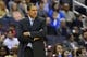 Mar 29, 2014; Washington, DC, USA; Washington Wizards head coach Randy Wittman watches his team during the second quarter against the Atlanta Hawks at Verizon Center. Mandatory Credit: Tommy Gilligan-USA TODAY Sports
