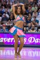 Mar 29, 2014; Dallas, TX, USA; The Dallas Mavericks dancers perform during a timeout in the first half between the Mavericks and the Sacramento Kings at the American Airlines Center. Mandatory Credit: Jerome Miron-USA TODAY Sports