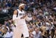 Mar 29, 2014; Dallas, TX, USA; Dallas Mavericks guard Vince Carter (25) gestures to the crowd during the second half against the Sacramento Kings at the American Airlines Center. The Mavericks defeated the Kings 103-100. Mandatory Credit: Jerome Miron-USA TODAY Sports