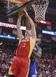 Mar 29, 2014; Houston, TX, USA; Houston Rockets center Omer Asik (3) attempts to control the ball during the first quarter against the Los Angeles Clippers at Toyota Center. The Clippers defeated the Rockets 118-107. Mandatory Credit: Troy Taormina-USA TODAY Sports