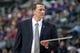Mar 31, 2014; Auburn Hills, MI, USA; Detroit Pistons head coach John Loyer looks on during the second quarter against the Milwaukee Bucks at The Palace of Auburn Hills. Mandatory Credit: Tim Fuller-USA TODAY Sports