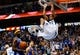 Apr 1, 2014; Dallas, TX, USA; Dallas Mavericks forward Brandan Wright (34) dunks during the game against the Golden State Warriors at American Airlines Center. Golden State won 122-120. Mandatory Credit: Kevin Jairaj-USA TODAY Sports