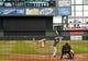 Apr 2, 2014; Milwaukee, WI, USA;   Milwaukee Brewers pitcher Matt Garza (22) pitches to Atlanta Braves third baseman Chris Johnson (23) before Johnson hit a home run to break up a no-hitter in the seventh inning at Miller Park. Mandatory Credit: Benny Sieu-USA TODAY Sports