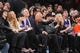 Apr 2, 2014; New York, NY, USA; Actor and comedian Howie Mandel attends the game between the New York Knicks and the Brooklyn Nets during the second half at Madison Square Garden. The New York Knicks won 110-81. Mandatory Credit: Joe Camporeale-USA TODAY Sports