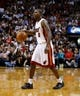Mar 31, 2014; Miami, FL, USA; Miami Heat guard Toney Douglas (0) dribbles the ball in the second half of a game against the Toronto Raptors at American Airlines Arena. The Heat won 93-83. Mandatory Credit: Robert Mayer-USA TODAY Sports