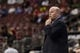 Apr 2, 2014; Philadelphia, PA, USA; Charlotte Bobcats head coach Steve Clifford during the fourth quarter against the Philadelphia 76ers at the Wells Fargo Center. The Bobcats defeated the Sixers 123-93. Mandatory Credit: Howard Smith-USA TODAY Sports