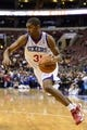 Apr 2, 2014; Philadelphia, PA, USA; Philadelphia 76ers forward Hollis Thompson (31) during the fourth quarter against the Charlotte Bobcats at the Wells Fargo Center. The Bobcats defeated the Sixers 123-93. Mandatory Credit: Howard Smith-USA TODAY Sports
