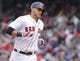 Apr 4, 2014; Boston, MA, USA; Boston Red Sox third baseman Will Middlebrooks (16) rounds the bases after hitting a home run against the Milwaukee Brewers in the third inning at Fenway Park. Mandatory Credit: David Butler II-USA TODAY Sports