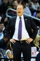 Apr 4, 2014; Atlanta, GA, USA; Atlanta Hawks head coach Mike Budenholzer reacts to the play against the Cleveland Cavaliers during the first half at Philips Arena. Mandatory Credit: Dale Zanine-USA TODAY Sports