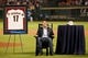 Apr 5, 2014; Houston, TX, USA; former Houston Astro Lance Berkman is honored prior to the game against the Los Angeles Angels at Minute Maid Park. Mandatory Credit: Andrew Richardson-USA TODAY Sports