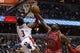 Apr 5, 2014; Washington, DC, USA; Chicago Bulls center Nazr Mohammed (48) blocks the shot of Washington Wizards guard Bradley Beal (3) in the second quarter at Verizon Center. Mandatory Credit: Geoff Burke-USA TODAY Sports