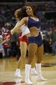Apr 5, 2014; Washington, DC, USA; Washington Wizards Girls dance on the court during a timeout against the Chicago Bulls at Verizon Center. The Bulls won 96-78. Mandatory Credit: Geoff Burke-USA TODAY Sports