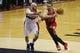 Apr 5, 2014; Washington, DC, USA; Chicago Bulls center Joakim Noah (13) dribbles the ball as Washington Wizards center Marcin Gortat (4) defends in the third quarter at Verizon Center. The Bulls won 96-78. Mandatory Credit: Geoff Burke-USA TODAY Sports