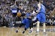 Apr 6, 2014; Sacramento, CA, USA; Dallas Mavericks guard Monta Ellis (11) dribbles past Sacramento Kings guard Ben McLemore (16) in the second quarter at Sleep Train Arena. Mandatory Credit: Cary Edmondson-USA TODAY Sports