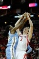 Apr 6, 2014; Houston, TX, USA; Denver Nuggets forward Kenneth Faried (35) and Houston Rockets center Omer Asik (3) fight for a rebound during the first quarter at Toyota Center. Mandatory Credit: Andrew Richardson-USA TODAY Sports