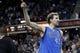 Apr 6, 2014; Sacramento, CA, USA; Dallas Mavericks forward Dirk Nowitzki (41) walks off the court after the Mavericks defeated the Sacramento Kings 93-91 at Sleep Train Arena. Mandatory Credit: Cary Edmondson-USA TODAY Sports