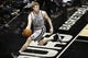 Apr 6, 2014; San Antonio, TX, USA; San Antonio Spurs forward Matt Bonner (15) attempts to save a ball from going out of bounds during the second half against the Memphis Grizzlies at AT&T Center. The Spurs won 112-92. Mandatory Credit: Soobum Im-USA TODAY Sports