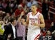 Apr 6, 2014; Houston, TX, USA; Houston Rockets guard Francisco Garcia (32) holds up three fingers after making a shot during overtime against the Denver Nuggets at Toyota Center. The Houston Rockets beat the Denver Nuggets 130-125. Mandatory Credit: Andrew Richardson-USA TODAY Sports