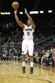 Apr 8, 2014; Atlanta, GA, USA; Atlanta Hawks guard Jeff Teague (0) shoots the ball against the Detroit Pistons in the third quarter at Philips Arena. Mandatory Credit: Brett Davis-USA TODAY Sports