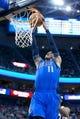 Apr 8, 2014; Salt Lake City, UT, USA; Dallas Mavericks guard Monta Ellis (11) dunks during the first half against the Utah Jazz at EnergySolutions Arena. Mandatory Credit: Russ Isabella-USA TODAY Sports