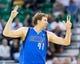 Apr 8, 2014; Salt Lake City, UT, USA; Dallas Mavericks forward Dirk Nowitzki (41) reacts during the second half against the Utah Jazz at EnergySolutions Arena. The Mavericks won 95-83. Mandatory Credit: Russ Isabella-USA TODAY Sports