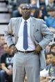 Apr 8, 2014; Salt Lake City, UT, USA; Utah Jazz head coach Tyrone Corbin during the second half against the Dallas Mavericks at EnergySolutions Arena. The Mavericks won 95-83. Mandatory Credit: Russ Isabella-USA TODAY Sports