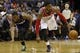 Apr 9, 2014; Washington, DC, USA; Washington Wizards guard John Wall (2) and Charlotte Bobcats guard Kemba Walker (15) chase a loose ball in the second quarter at Verizon Center. Mandatory Credit: Geoff Burke-USA TODAY Sports