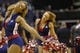 Apr 9, 2014; Washington, DC, USA; The Washington Wizards Girls dance on the court during a timeout against the Charlotte Bobcats in the fourth quarter at Verizon Center. The Bobcats won 94-88 in overtime. Mandatory Credit: Geoff Burke-USA TODAY Sports