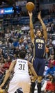 Apr 9, 2014; Milwaukee, WI, USA; Indiana Pacers forward Chris Copeland (22) shoots the ball over Milwaukee Bucks center John Henson (31) during the fourth quarter at BMO Harris Bradley Center.  The Pacers won 104-102.  Mandatory Credit: Jeff Hanisch-USA TODAY Sports