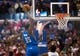 Apr 9, 2014; Los Angeles, CA, USA; Oklahoma City Thunder forward Kevin Durant (35) dunks the ball against the Los Angeles Clippers during the third quarter at Staples Center. The Thunder won 107-101. Mandatory Credit: Kelvin Kuo-USA TODAY Sports