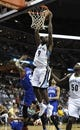 Apr 11, 2014; Memphis, TN, USA; Memphis Grizzlies guard Tony Allen (9) dunks the ball against the Philadelphia 76ers during the game at FedExForum. Mandatory Credit: Justin Ford-USA TODAY Sports
