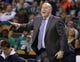 Apr 11, 2014; Boston, MA, USA; Charlotte Bobcats head coach Steve Clifford watches from the sideline as they take on the Boston Celtics in the second half at TD Garden. The Celtics defeated the Bobcats 106-103. Mandatory Credit: David Butler II-USA TODAY Sports